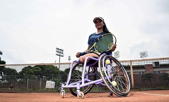 Zuleiny Rodríguez, promesa vallecaucana del tenis en silla de ruedas