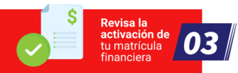 Activación de matrícula financiera