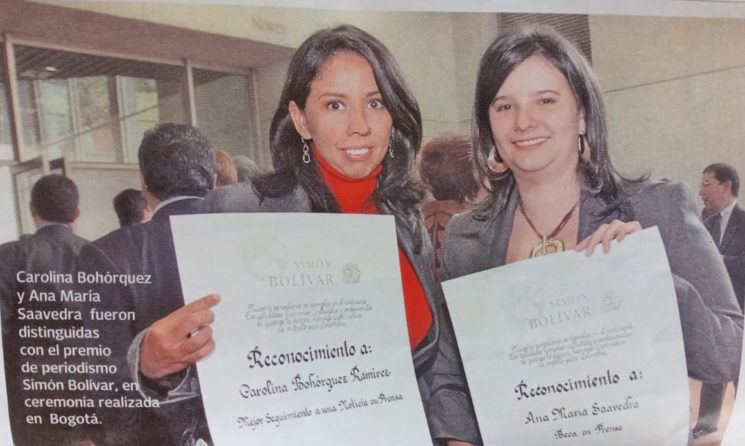 El periodismo que corre por las venas de Carolina Bohórquez Ramírez