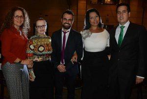 De izquierda a derecha: Claudia Roldán, Mónica Piedrahita, Mario Uribe, Mónica Palacios y César López