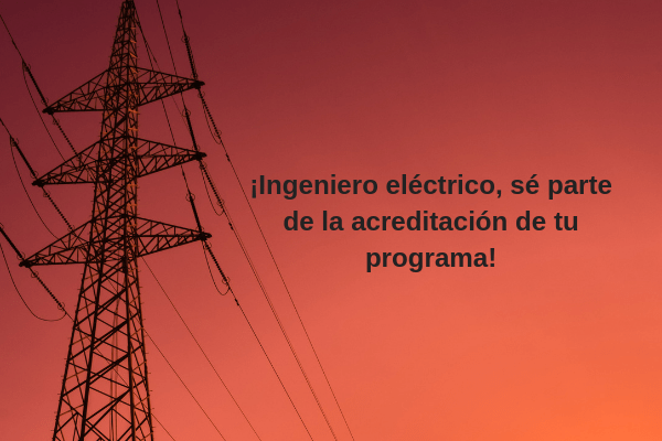 Ingeniero eléctrico, haz parte de la acreditación de tu programa